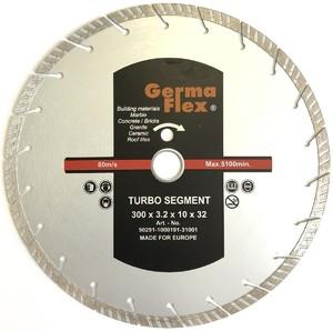 Диск алмазный турбо сегмент 300х10х32-25,4 мм TS