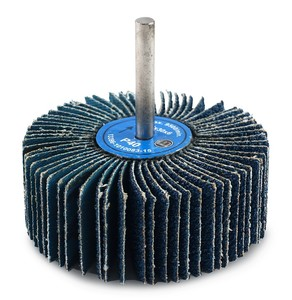 Круг лепестковый со шпинделем 80/30/6 мм Р80 Spiner Z цирконий голубой