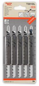 Пилки для лобзика по дереву (удлиненные) T301 DL (5 шт.)