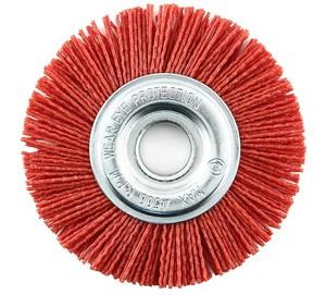 Щетка дисковая из нейлона 125х22 мм С красный абразив