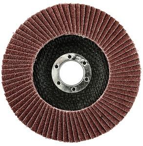 Круг лепестковый торцевой 125х22 мм P100 электрокорунд бордовый (плоский) Korkat «PLEXPART»