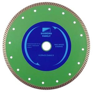 Диск алмазный мелкий зуб 350х32 мм Family