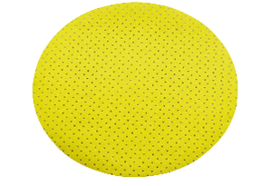 Круг на липучке ф225 мм перфорированный P180 э.корунд желтый