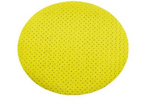 Круг на липучке ф225 мм перфорированный P220 э.корунд желтый