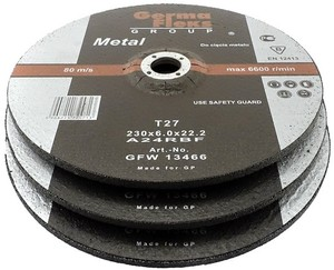 Круг зачистной по металлу 230х6,0х22,2 «GermaFleks Group»