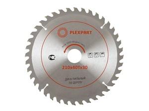 Пильный диск по дереву победитовый (125х22 мм; 36Т) «PLEXPART»
