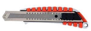 Нож строительный обрезиненный корпус, лезвие 18 мм