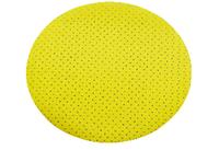 Круг на липучке ф225 мм перфорированный P80 э.корунд желтый