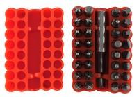 Набор бит (бытовой; 32 предмета) с адаптером в резиновом чехле