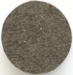Круг войлочный (125х20 мм; М14) серый грубошерстный