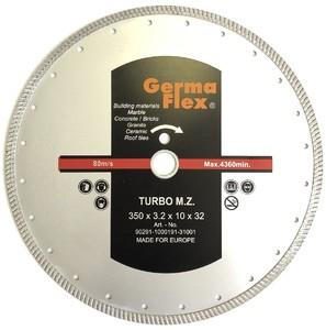 Диск алмазный турбо мелкий зуб 350х10х32 мм TMZ