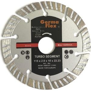 Диск отрезной алмазный турбо сегмент 115х10х22,2 мм TS резка сухая (Diamond Line)