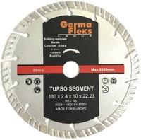 Диск отрезной алмазный турбо сегмент 180х10х22,2 мм TS резка сухая (Diamond Line)