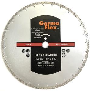Диск алмазный турбо сегмент 400х12х32 мм TS