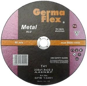 Круг отрезной по алюминию 230х1,9х22,2 ALU «GermaFleks Group»