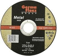 Круг (диск) отрезной по нержавеющей стали 125 мм (125х1,0х22,2) INOX GermaFleks Group