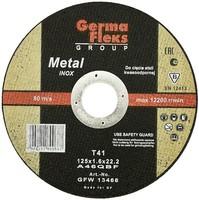 Круг (диск) отрезной по нержавеющей стали 125 мм (125х2,0х22,2) INOX GermaFleks Group