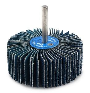 Круг лепестковый со шпинделем 80/30/6 мм Р40 Spiner Z цирконий голубой