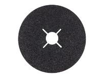 Круг фибровый 125х22,2 мм Р36 (толщина 0,8 мм) Fibrat С карбид кремния черный