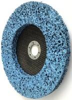 Круг нейлоновый шлифовальный 180х14х22,2 мм Z цирконий голубой
