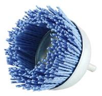 Щетка чашечная нейлоновая с хвостовиком 100х6 мм Z цирконий голубой
