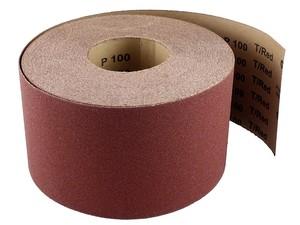 Бумага наждачная в рулоне 115 мм / 50 м P80 T/Red электрокорунд бордовый