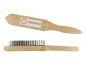 Щетка ручная с деревянной ручкой и прямой проволокой