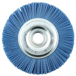 Щетка дисковая из нейлона 125х22 мм Z цирконий голубой
