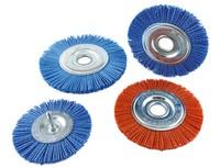 Щетка дисковая из нейлона 150х22 мм Z цирконий голубой