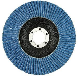 Круг лепестковый торцевой 125х22,2 мм Р36 Korkat Z цирконий голубой
