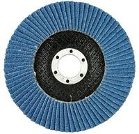 Круг лепестковый торцевой 180х22,2 мм Р80 Korkat Z цирконий голубой