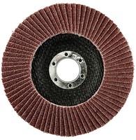 Круг лепестковый торцевой 180х22 мм P100 электрокорунд бордовый (плоский) Korkat «PLEXPART»