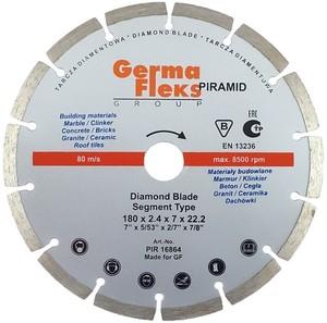 Диск отрезной алмазный сегмент 125х22,2 мм S резка сухая (Piramid)