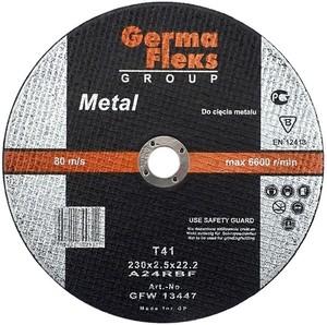 Круг (диск) отрезной по металлу 230 мм (230х2,5х22,2) «GermaFleks Group»