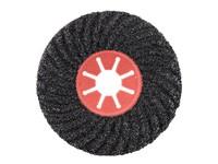 Круг фибровый волнистый 125х22 мм Р100 Semtul карбид кремния черный «PLEXPART»