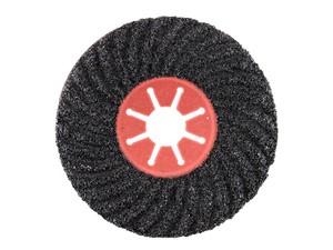 Круг фибровый волнистый 125х22 мм Р16 Semtul карбид кремния черный «PLEXPART»