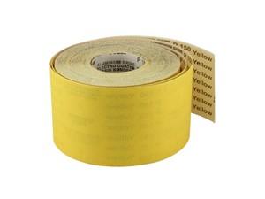 Бумага наждачная в рулоне 115 мм / 50 м P40 на бумажной основе электрокорунд желтый Yellow