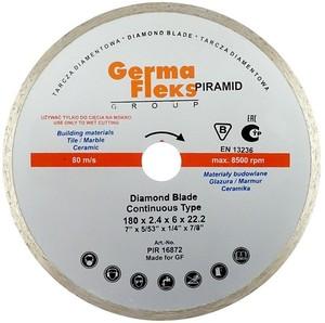 Диск отрезной алмазный сплошной 180х22,2 мм W резка мокрая (Piramid)